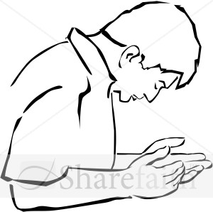 Man Cupping Hands in Supplication | Prayer Clipart