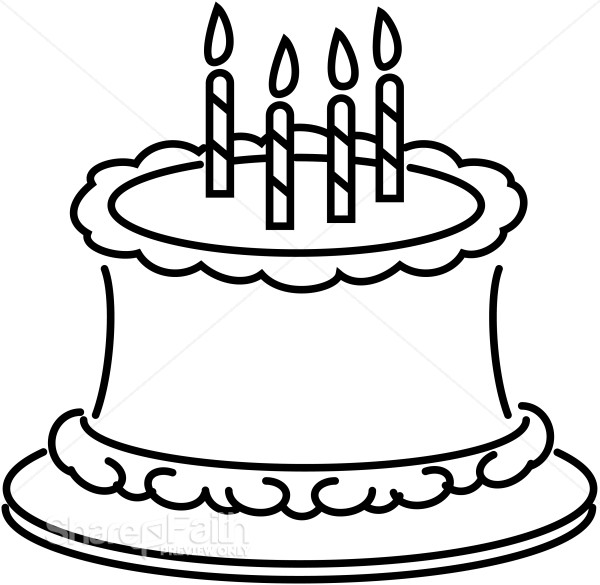 Birthday Cake Clip Art Black And White on mercedes suv