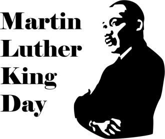 Martin Luther King Day with Silhouette