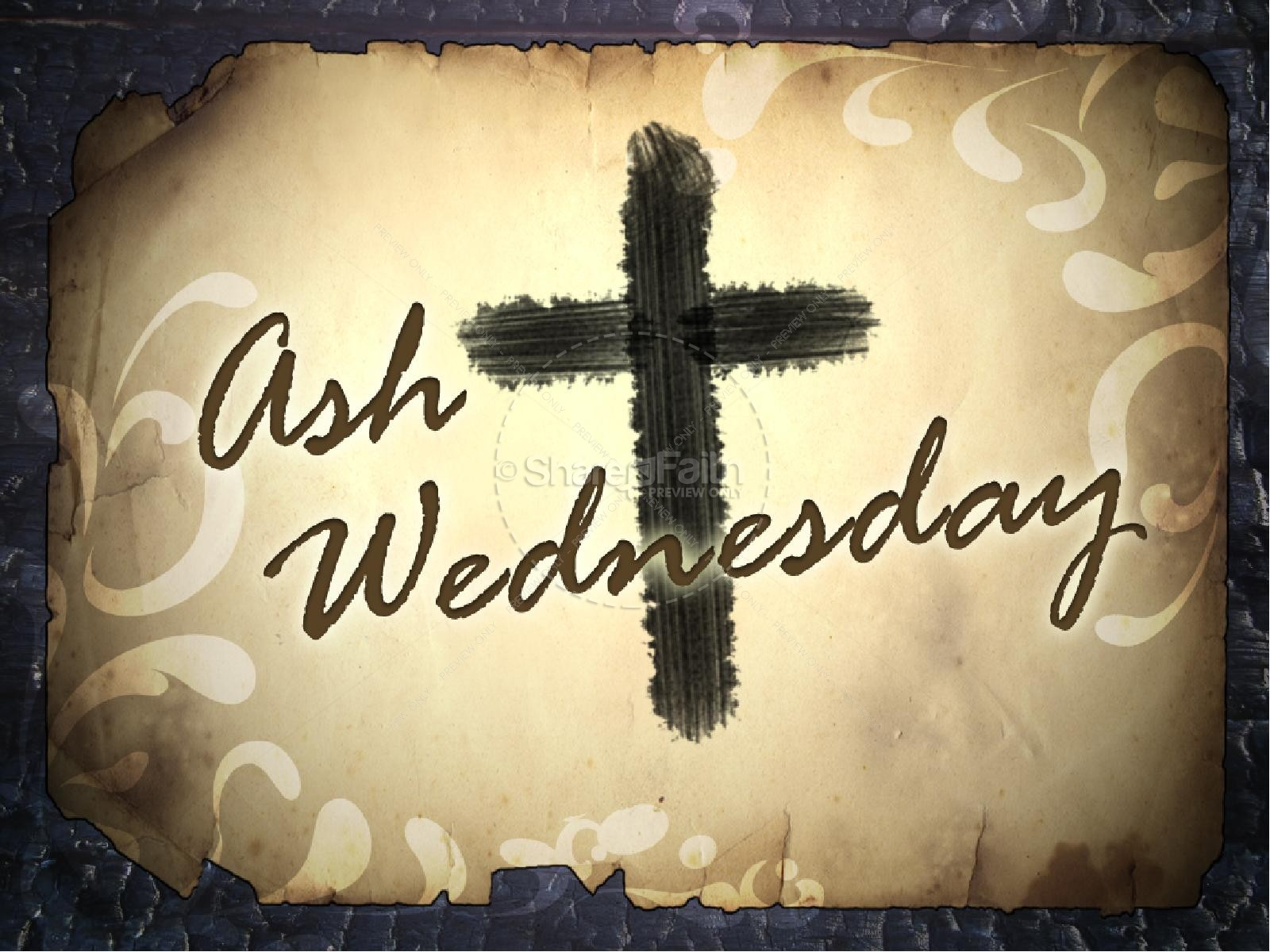 Ash Wednesday with Cross | slide 1
