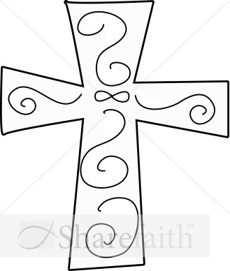 ... and white clipart of a closed bible with a white cross on the cover