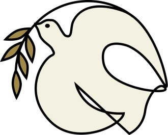 dove clip art with olive branch