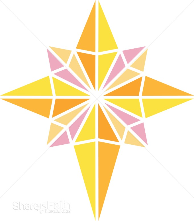 gold star clipart. Bright Nativity Star Clipart