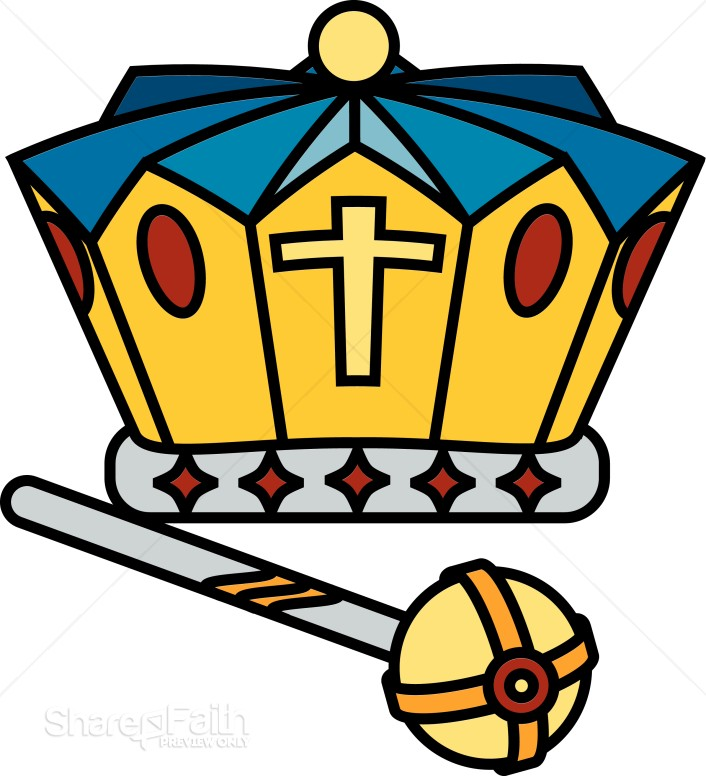 Crown and Scepter | Crown Clipart