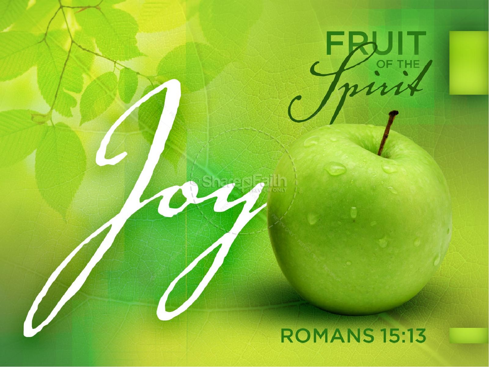 Joy Fruit of the Spirit PowerPoint Template | slide 1