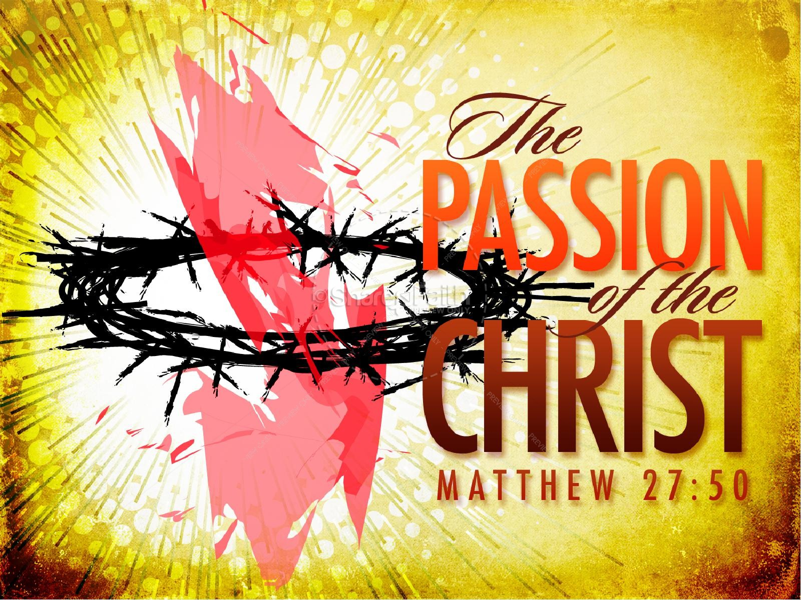 Passion of the Christ Easter Sermon | slide 1