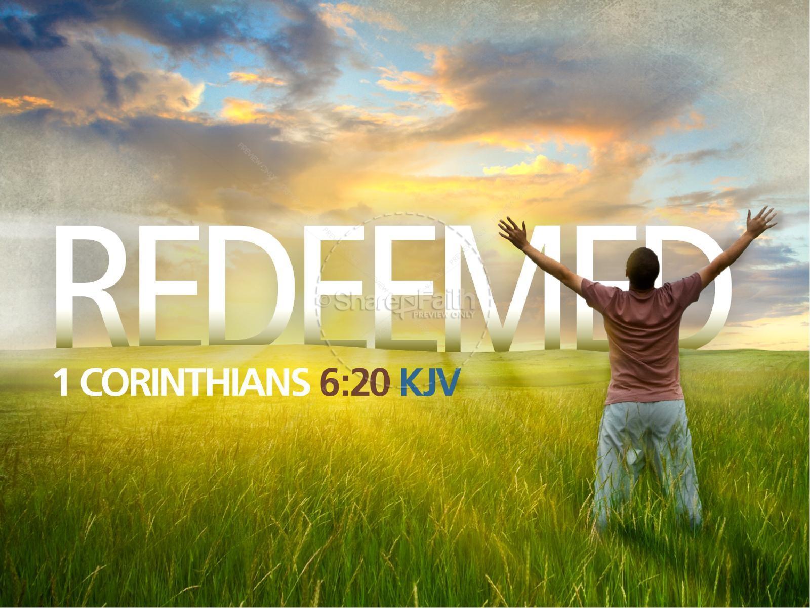 Redeemed PowerPoint Sermon Template | slide 1