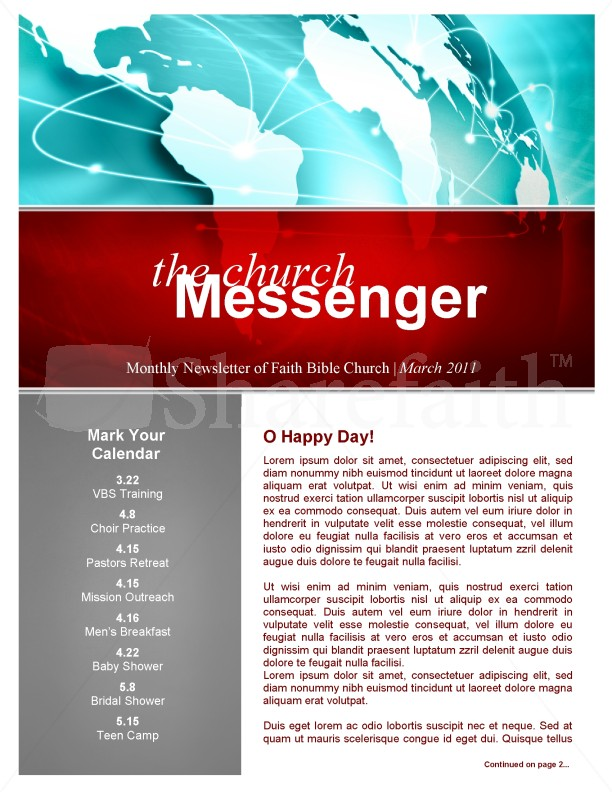 Free church bulletin template for Free templates for church bulletins