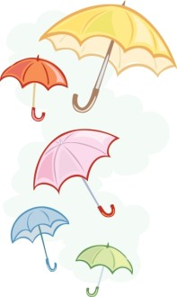 The Bridal Shower Umbrella Symbolizing Bridal Showers.