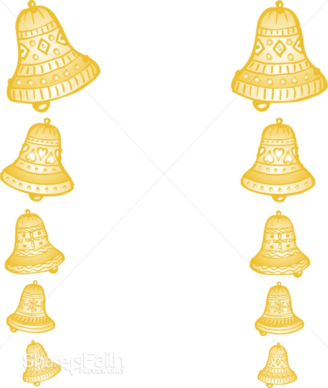 Clip Art Wedding Bells. of Golden Wedding Bells