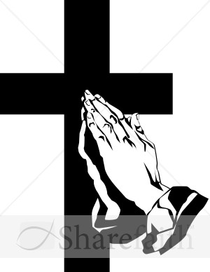 Praying Hands And The Cross