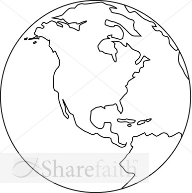 Black And White Earth Clip Art Line Art Globe Black and White