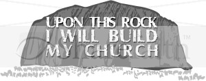 rock build church jesus baptized dove descended jesus god son